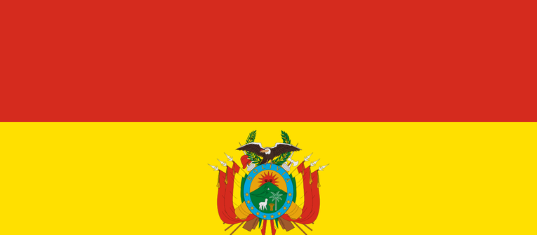 Index big wide flag of bolivia