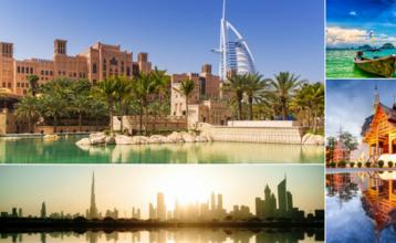 Destination index emiraty a thajsko