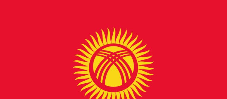 Index big wide kirgizsko zastava