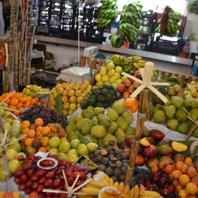 Exotické ovocie na trhu
