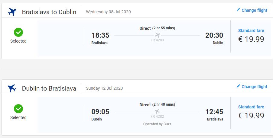 ÍRSKO - Dublin z Bratislavy počas leta s letenkami od 40 eur