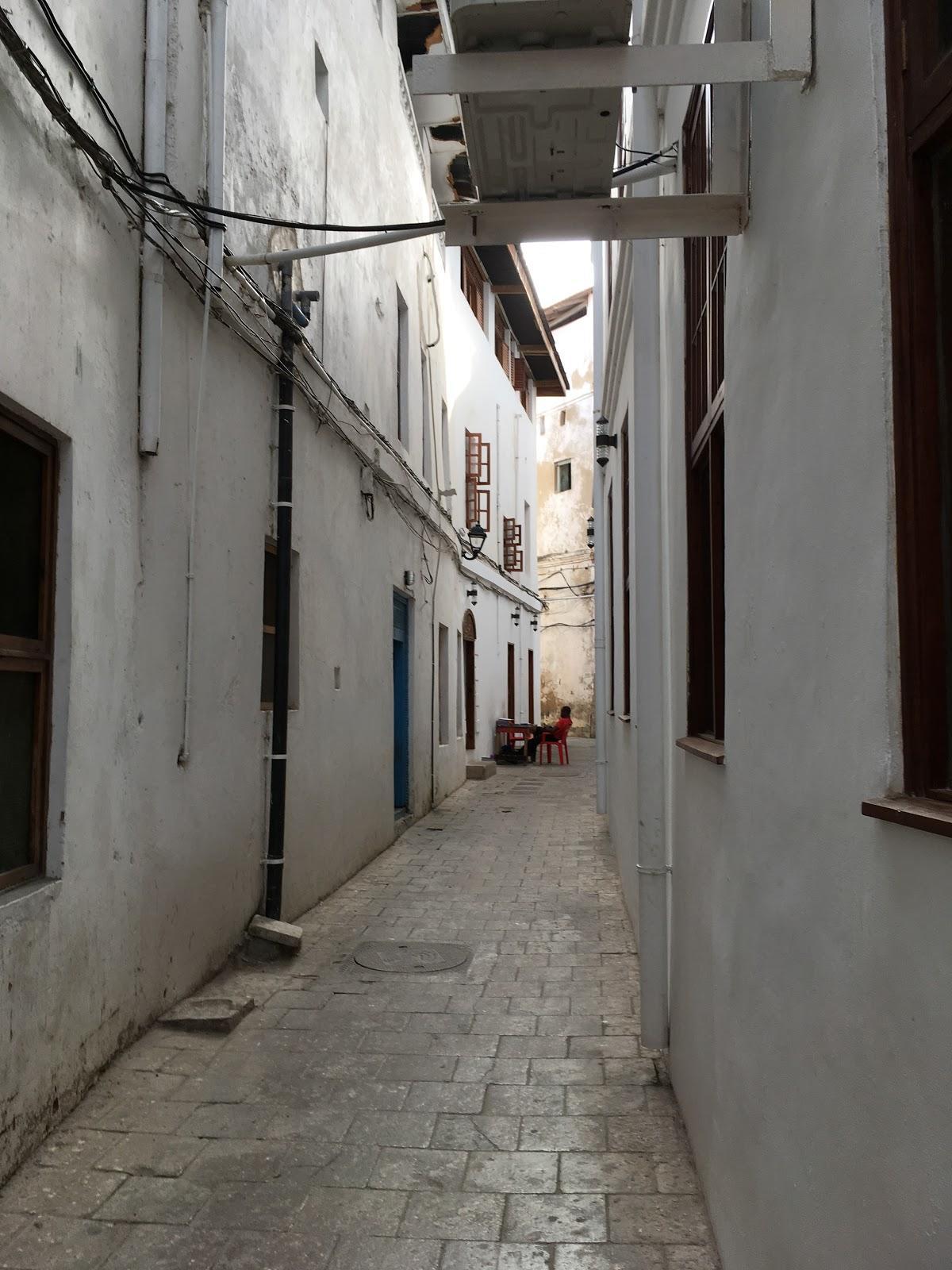 Úzke ulice v meste Stone town