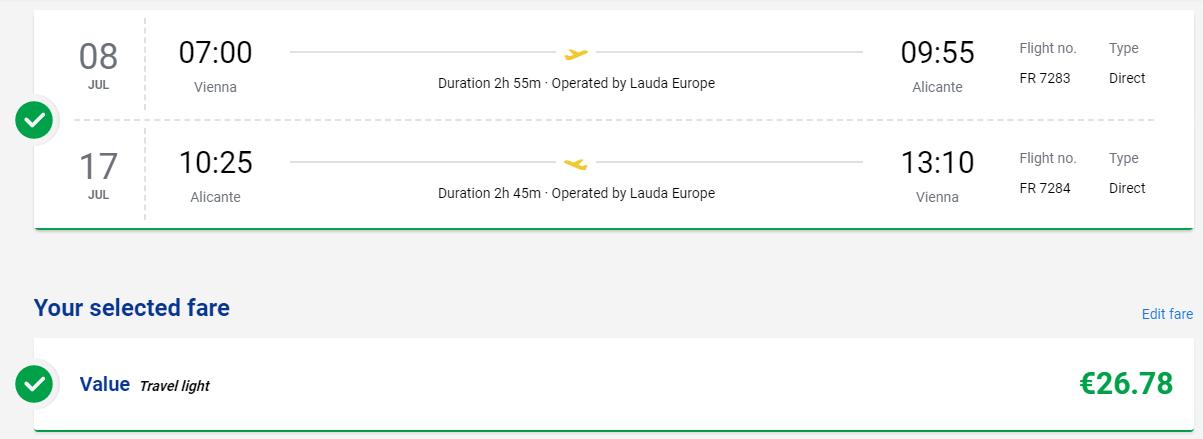 ŠPANIELSKO - Alicante z Viedne v júlových termínoch s letenkami od 27 eur