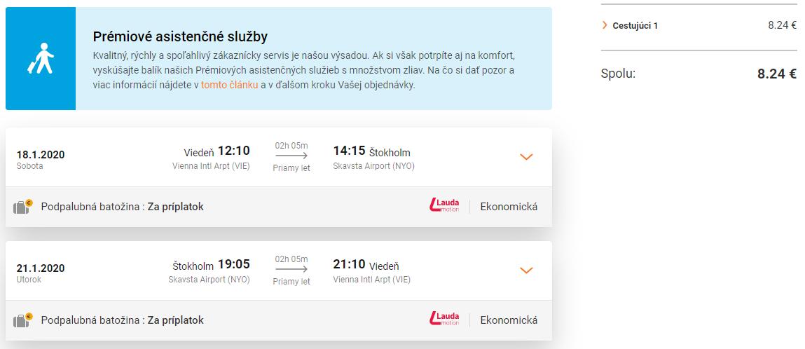 ŠVÉDSKO - Štokholm z Viedne s letenkami od 8 eur