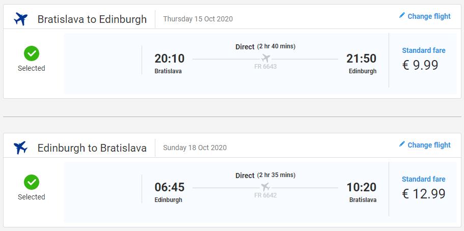Škótsko počas jesene. Edinburgh z Bratislavy s letenkami od 23 eur