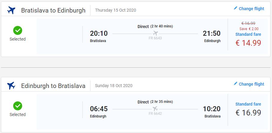 Škótsko počas jesene. Edinburgh z Bratislavy s letenkami od 32 eur