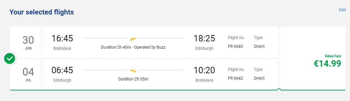 Škótsko začiatkom prázdnin. Edinburgh z Bratislavy s letenkami od 15 eur