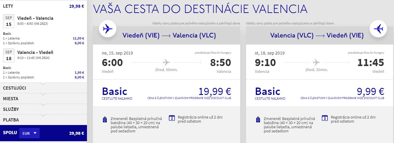 Španielská Valencia z Viedne koncom leta s letenkami od 30 eur