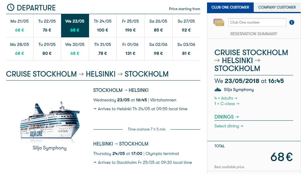 Štokholm a Helsinky plus 2 noci na výletnej lodi s cenou už od 73 eur - loď
