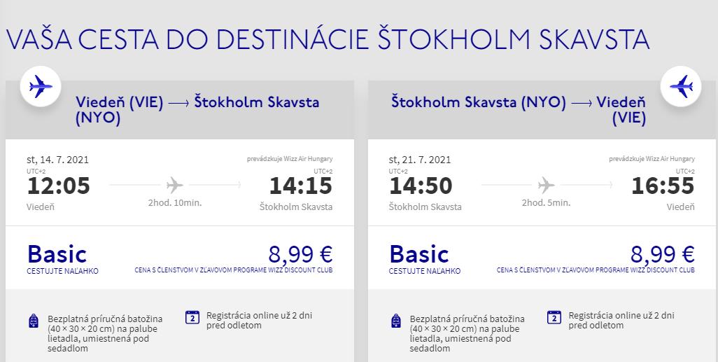 Štokholm cez letné prázdniny s letenkami z Viedne aj na víkend od 18 eur