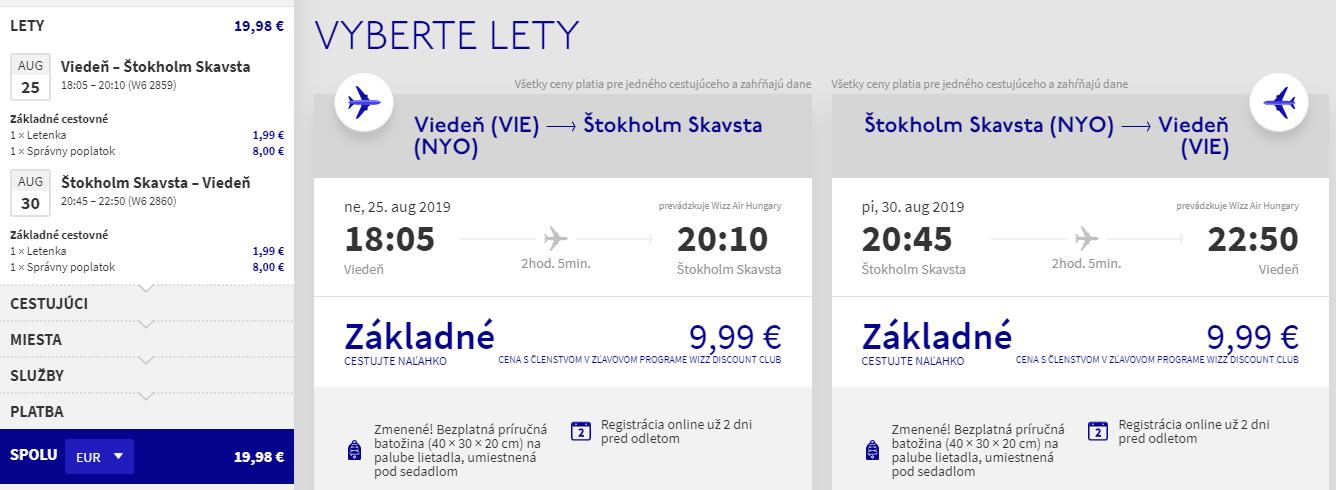 Štokholm cez letné prázdniny s letenkami z Viedne od 20 eur