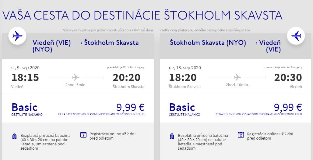 Štokholm koncom leta. Spiatočné letenky z od 20 eur
