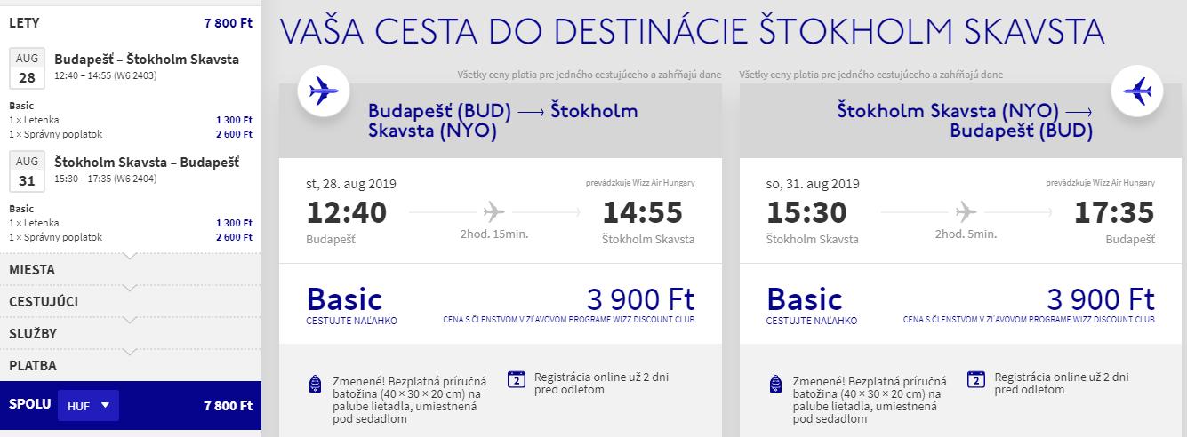 Štokholm koncom prázdnin s letenkami z Budapešti od 24 eur