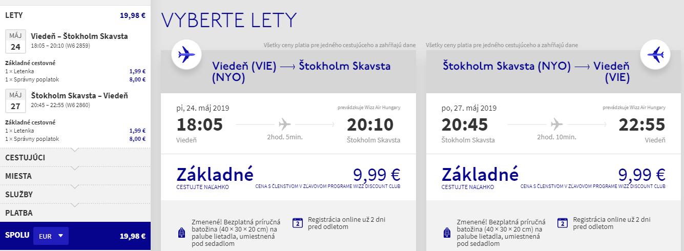 Štokholm na predĺžený víkend. Spiatočné letenky z Viedne už od 20 eur