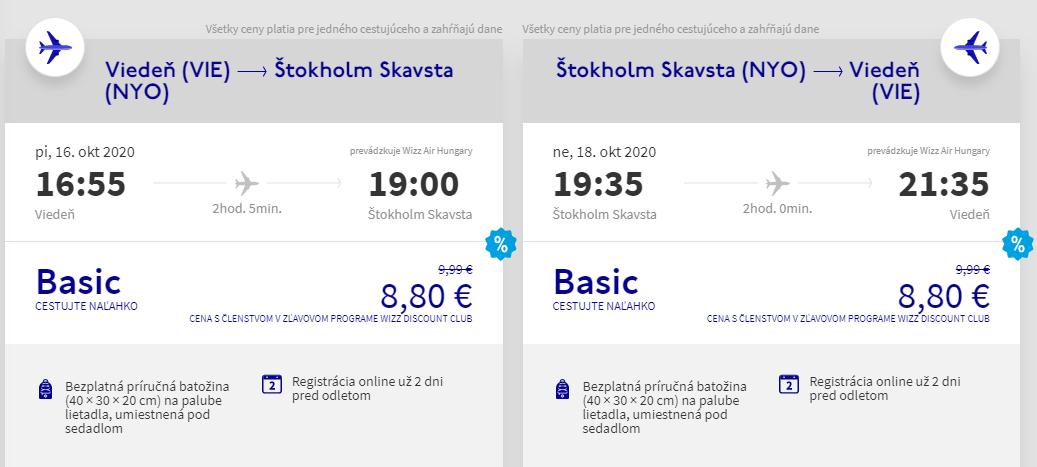 Štokholm v jesenných termínoch. Letenky aj na víkend od 18 eur