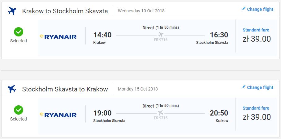 Štokholm z Krakova s letenkami od 18 eur