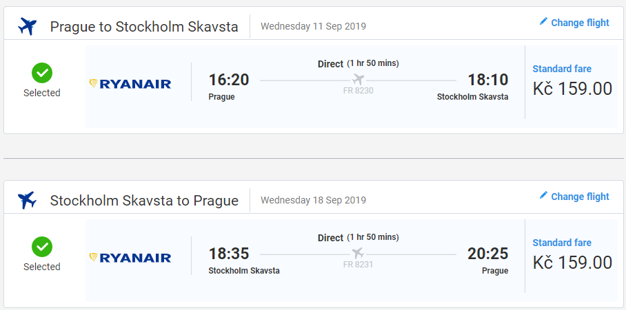 Štokholm z Prahy koncom leta s letenkami od 12 eur