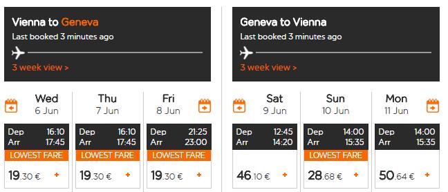 Letenky z Viedne do Ženevy od 49 eur