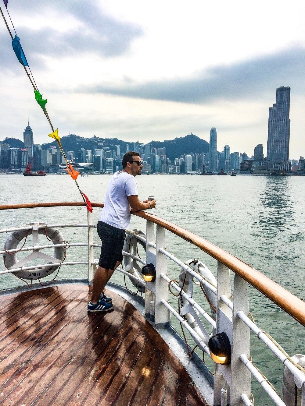 Smogová fotka počas Harbour tour