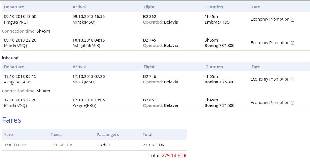 Ašchabad z Prahy s letenkami od 279 eur