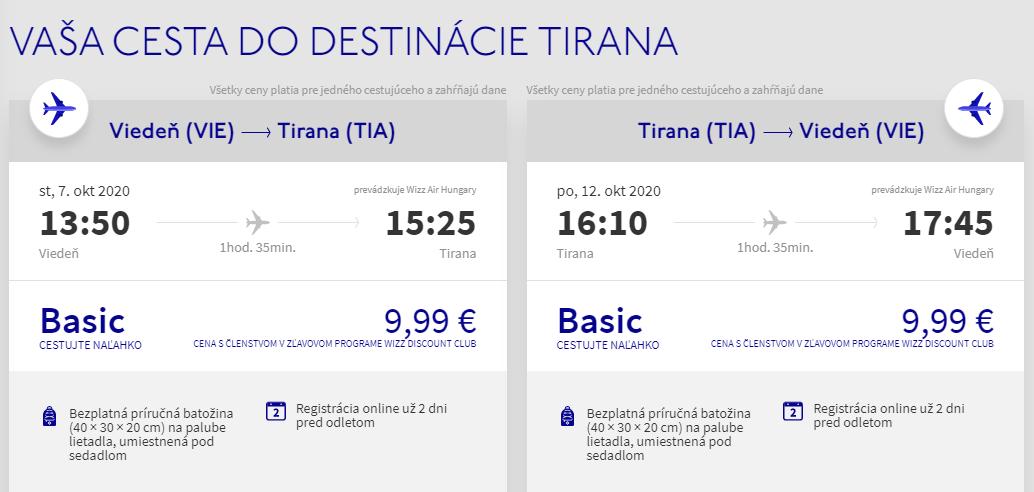ALBÁNSKO - Tirana z Viedne začiatkom jesene s letenkami od 20 eur