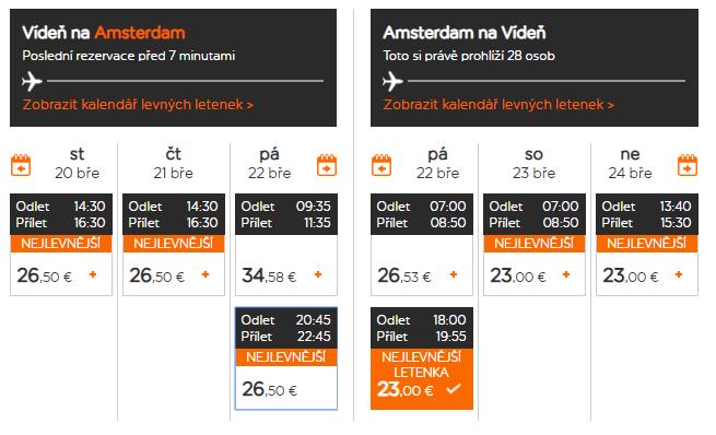 AMSTERDAM - Víkendové letenky z Viedne už od 49 eur