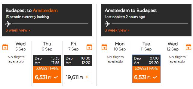 AMSTERDAM Letenky z Budapešti v septembrových termínoch od 41 eur