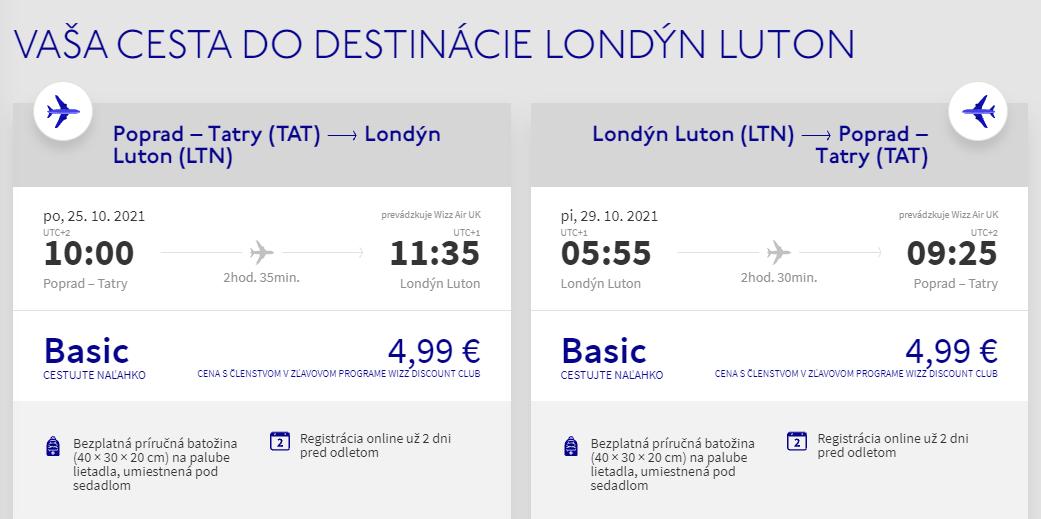 ANGLICKO - Londýn z Popradu s letenkami už od 10 eur