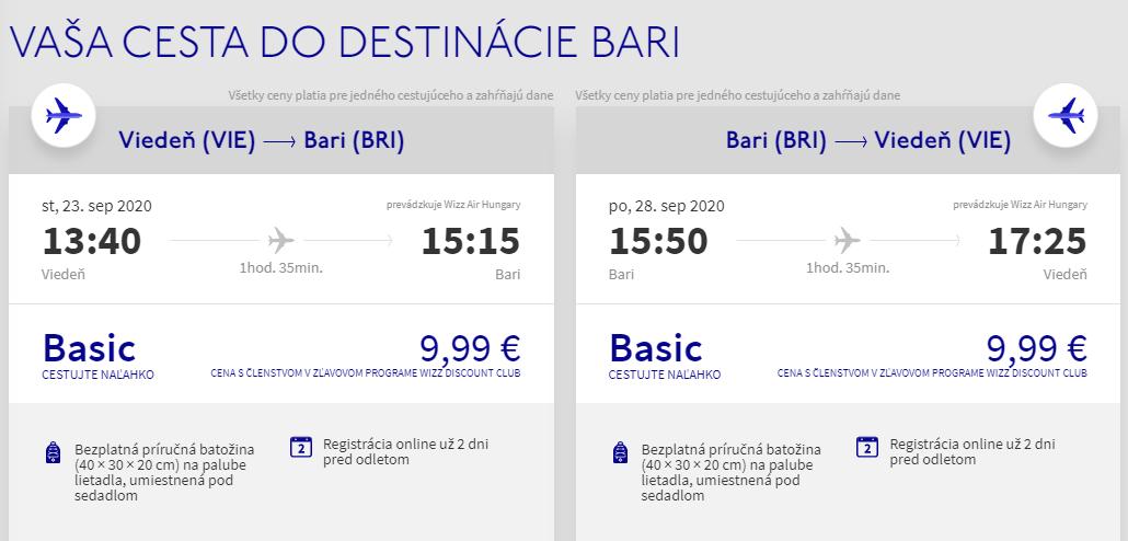APÚLIA - Bari z Viedne koncom leta s letenkami od 20 eur