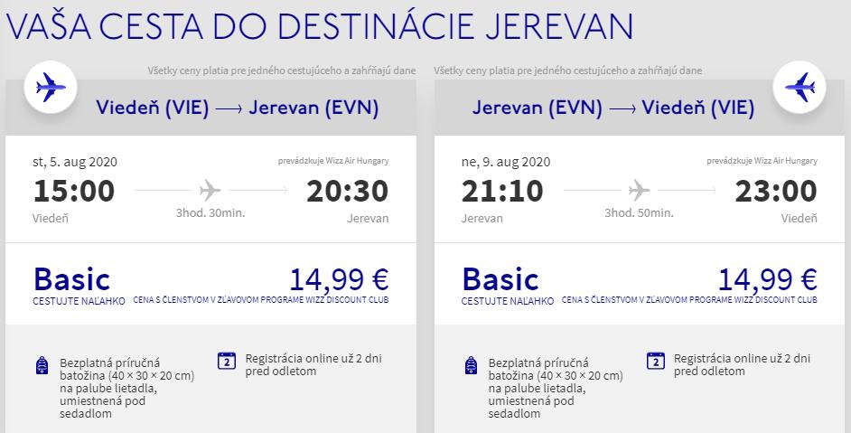 ARMÉNSKO - Jerevan z Viedne s letenkami od 30 eur