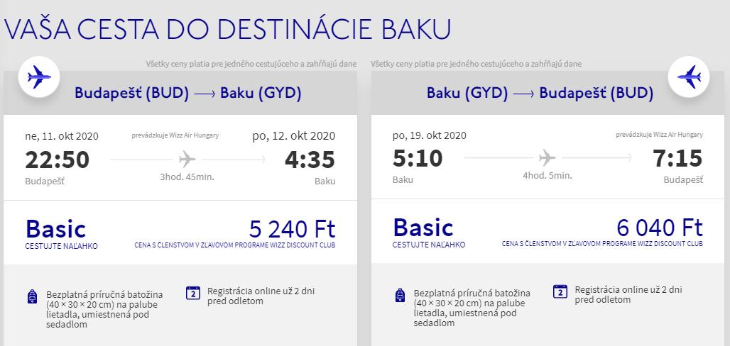 AZERBAJDŽAN - Baku z Budapešti začiatkom jesene s letenkami od 32 eur