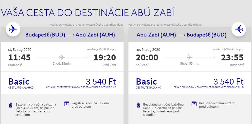 Abú Dhabí z Budapešti s letenkami od 20 eur