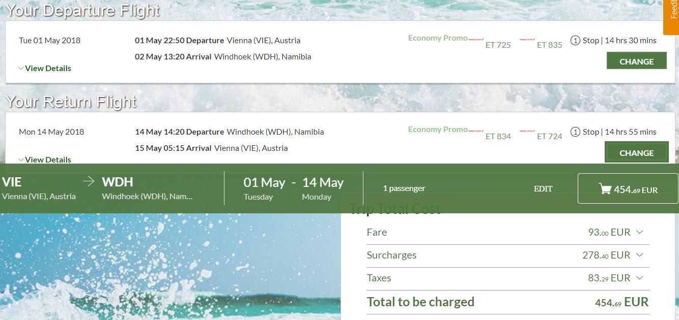 Africká Namíbia s odletom z Viedne už od 455 eur
