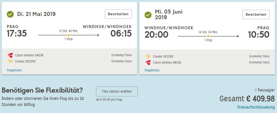 Africká Namíbia z Prahy s letenkami od 410 eur