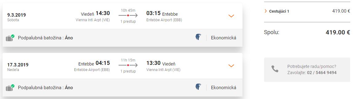Africká Uganda z Viedne s letenkami od 419 eur