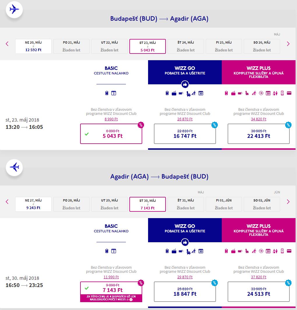 Agadir z Budapešti s letenkami od 38 eur