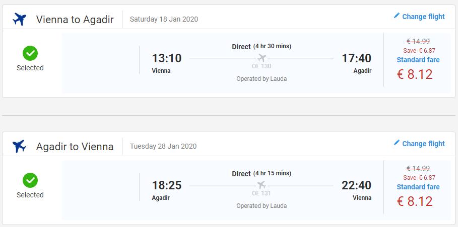 Agadir z Viedne s letenkami od 16 eur