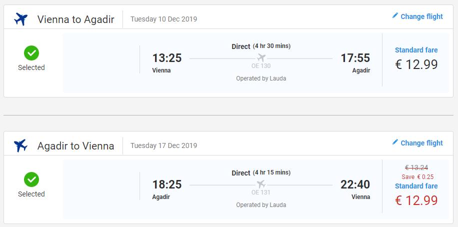 Agadir z Viedne s letenkami od 26 eur