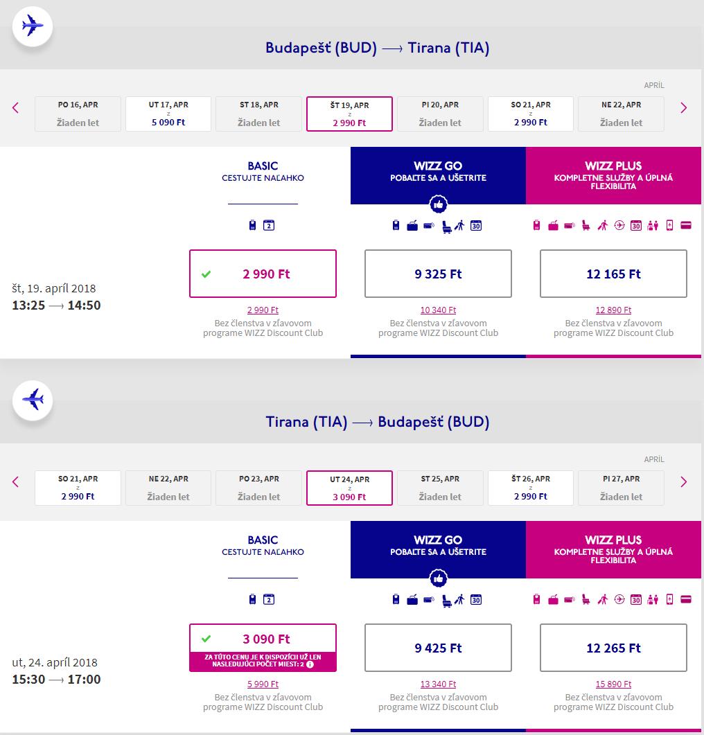 Albánsko - Tirana z Budapešti s letenkami od 20 eur