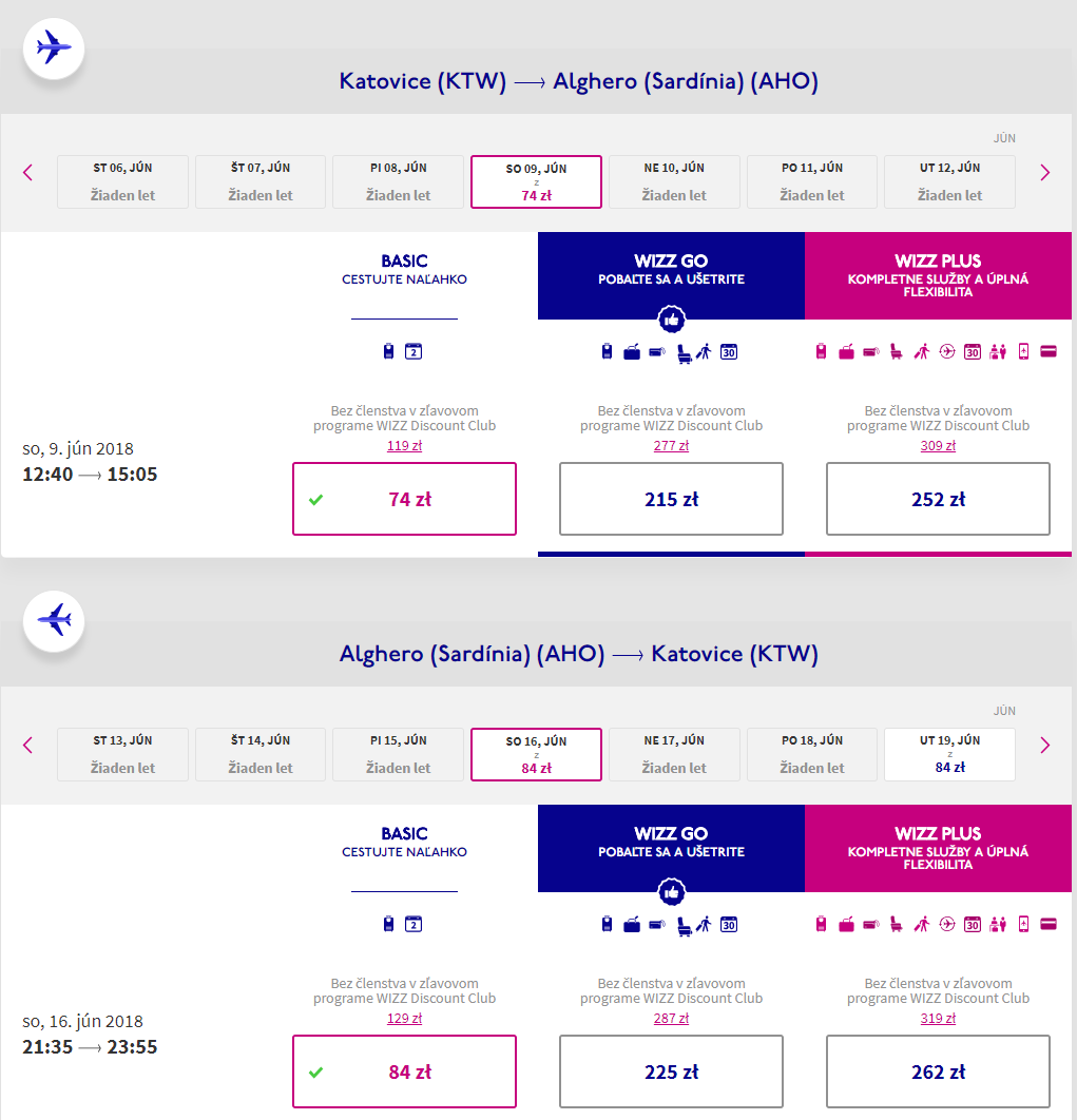 Alghero v júnových termínoch s letenkami od 37 eur