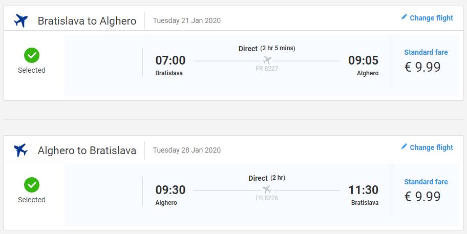 Alghero z Bratislavy začiatkom roka s letenkami od 20 eur
