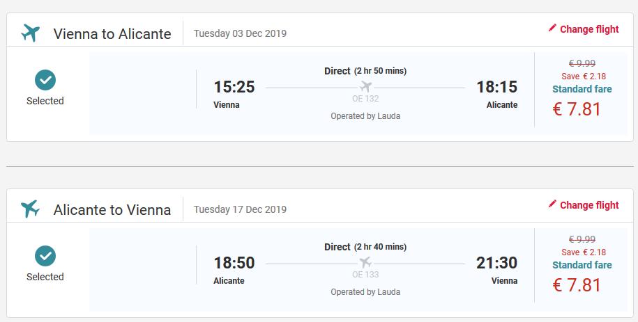 Alicante z Viedne s letenkami od 16 eur