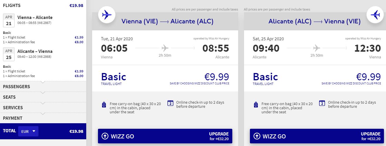 Alicante z Viedne v jarných mesiacoch s letenkami od 20 eur
