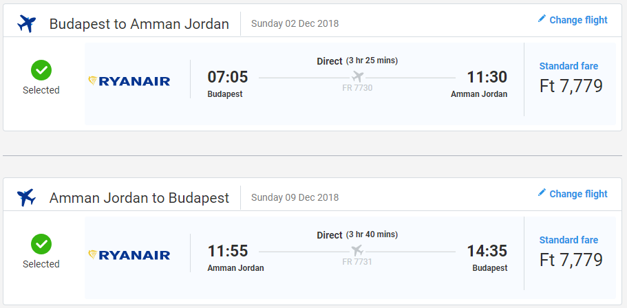 Ammán s letenkami z Budapešti od 48 eur