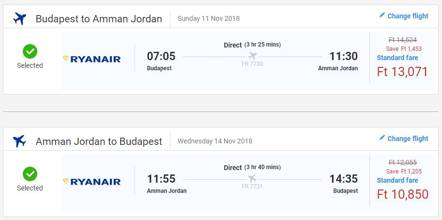 Ammán s letenkami z Budapešti od 73 eur