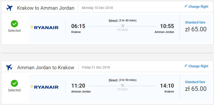 Ammán s letenkami z Krakova od 30 eur