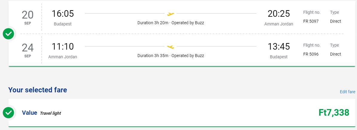 Ammán z Budapešti s letenkami od 21 eur