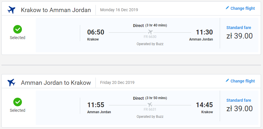 Ammán z Krakova koncom roka s letenkami od 18 eur