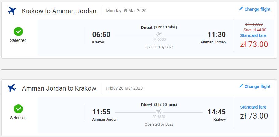 Ammán z Krakova s letenkami od 34 eur