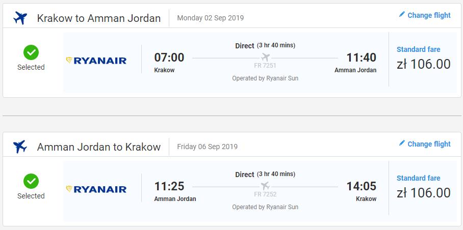 Ammán z Krakova začiatkom septembra s letenkami od 50 eur